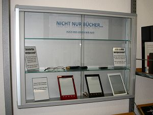 Vitrine der E-Book-Reader